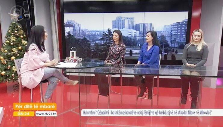 """Studentët e UMIB prezantojnë gjetjet e hulumtimit në emisionin """"për ditë të mbarë - RTV21"""""""