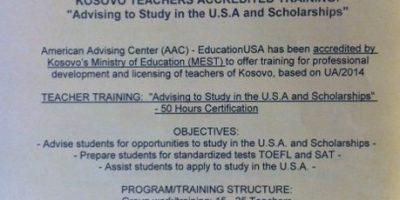EdUSA Teacher Academy – Training Promotion