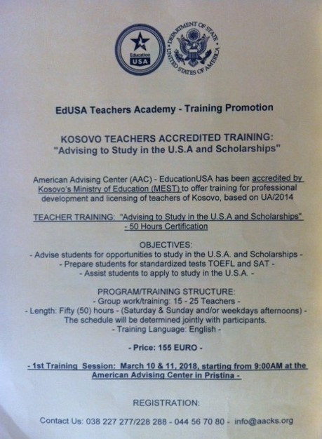 EdUSA Teacher Academy - Training Promotion