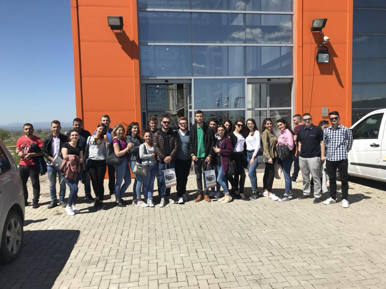"""Një grup studentësh vizituan panairin """"Prishtina 2018"""""""