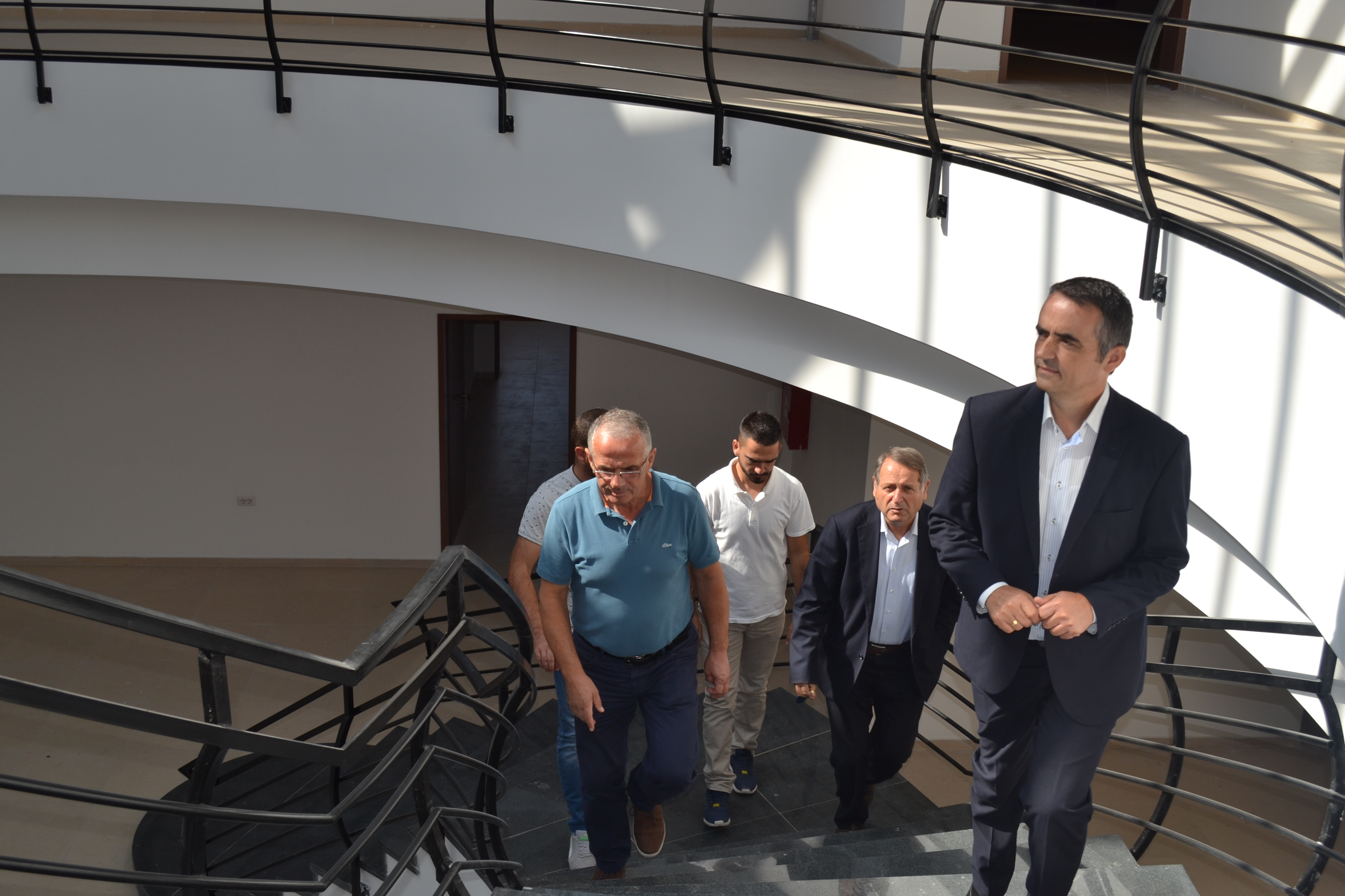 "Rector of ""Isa Boletini"" University in Mitrovica, Alush Musaj, visits the new University campus that is under construction"