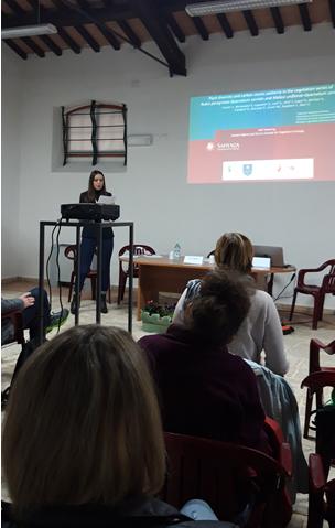 Dr.sc. Mirsade OSMANI, nga Fakulteti i Teknologjisë Ushqimore mban ligjëratë në Universitetin e Camerinos