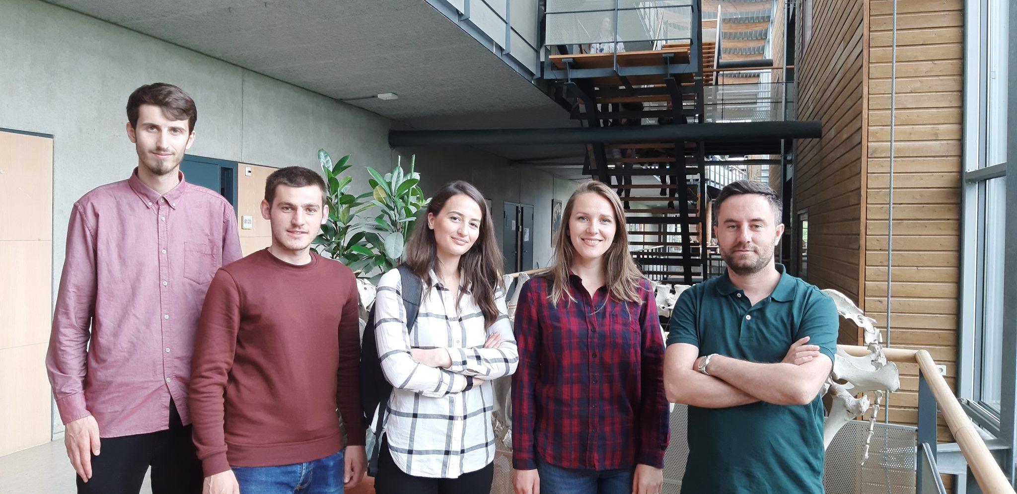 Asistentët, Bahtir Hyseni, Arbër Hyseni Me Studentët Shkëlqim Hyseni, Ylberinë Baliu Dhe Fjolla Laskaj Që Janë Në Holandë Me Erasmus+ (1)
