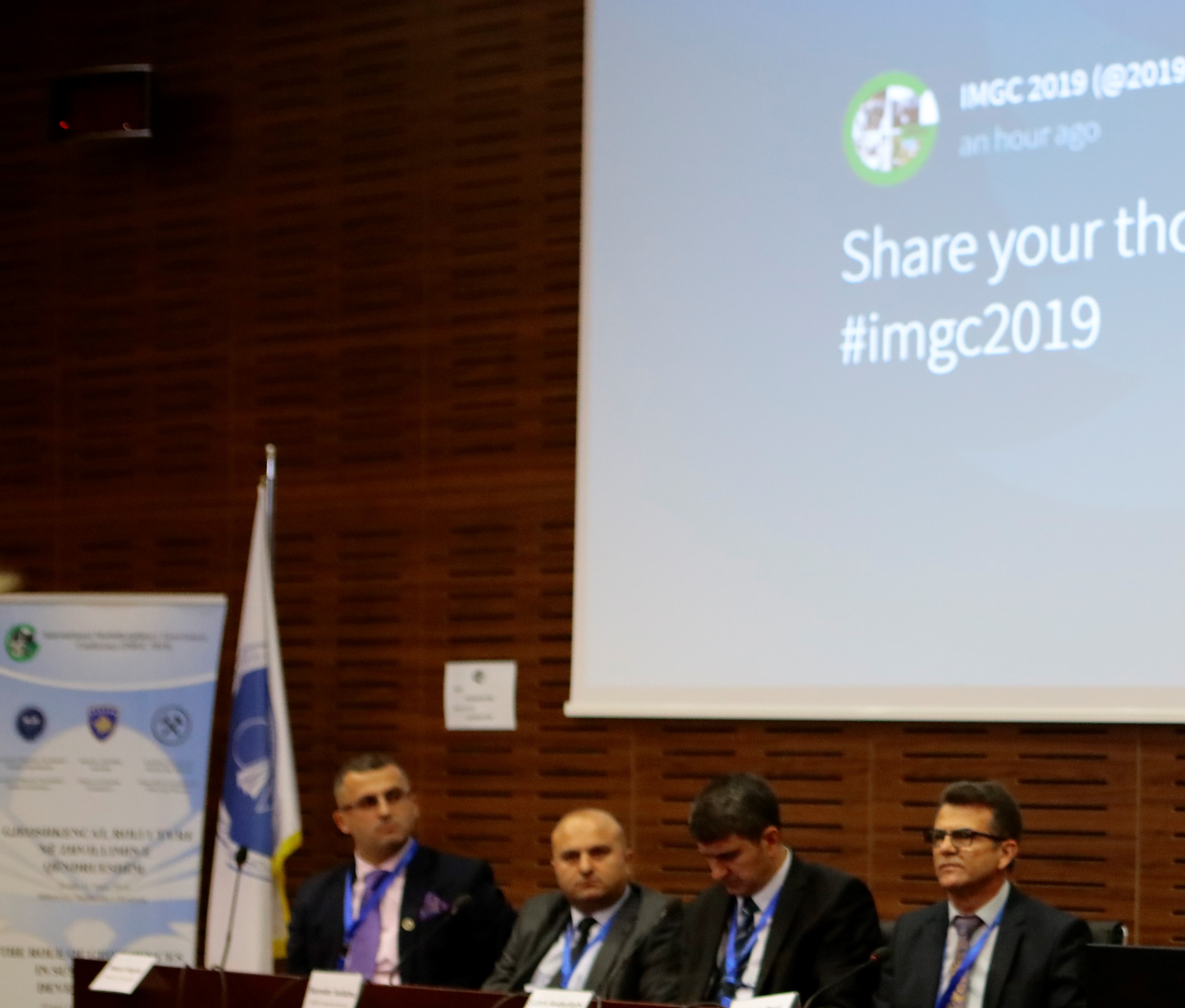 """Dean's speech, Naser Peci at the opening of the """"International Conference on Geoscience"""""""