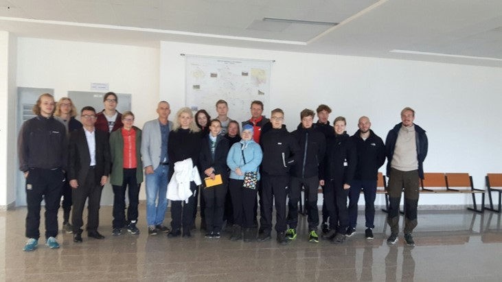A group of students with their teachers from Åbo Academy University in Finland visited the Faculty of Geosciences