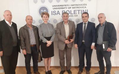 Rektori Musaj Priti Në Takim Drejtuesit E SBASHK-ut