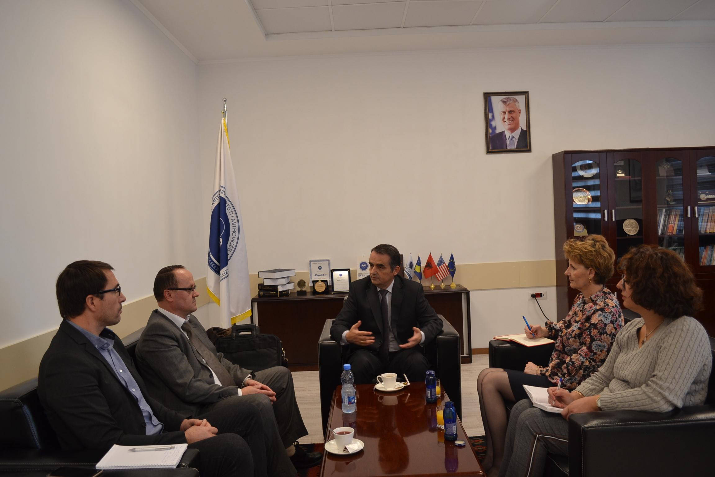 Udhëheqësit e projektit HERAS vizituan UMIB-in
