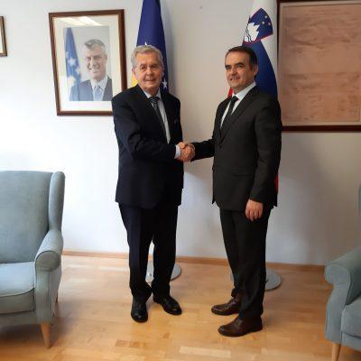 Takimi I Rektorit Me Ambasadorit Ne Slloveni