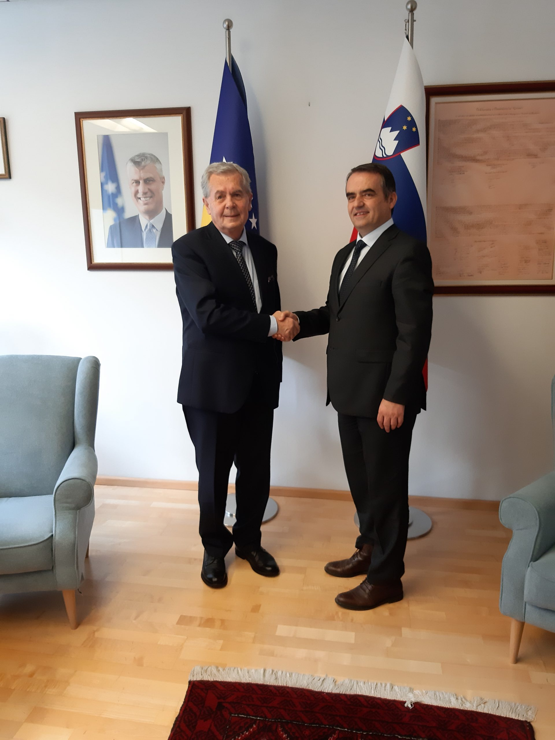 The Meeting Of UMIB's Rector And The Ambassador Of Kosovo In Slovenia