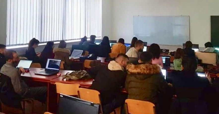 "Workshop ""UI and Coding"" was held within FIMK Programming Club"