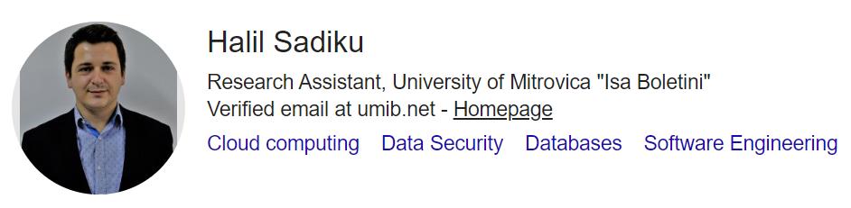 Google Scholar Profiles