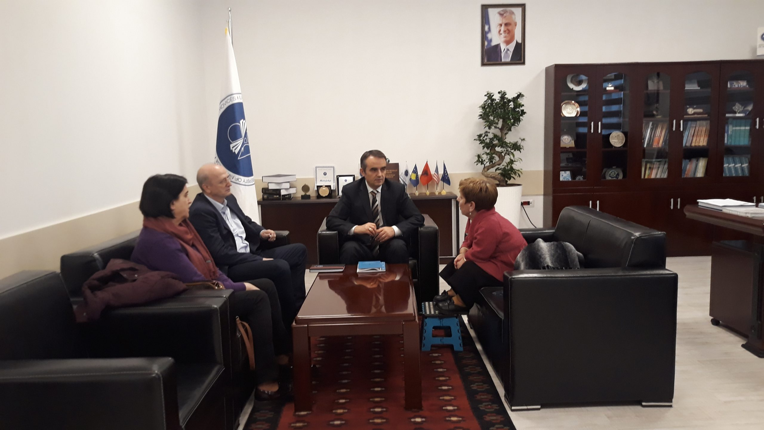 "Rector Musaj Hosts Representative Of NGO ""Little People Of Kosovo"""