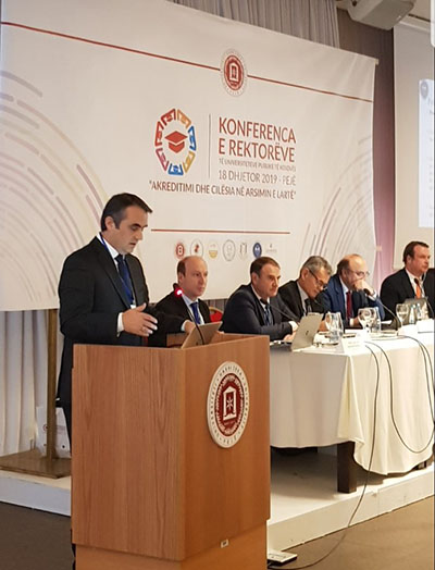 Rector Musaj attends the conference of rectors organized by UHZ