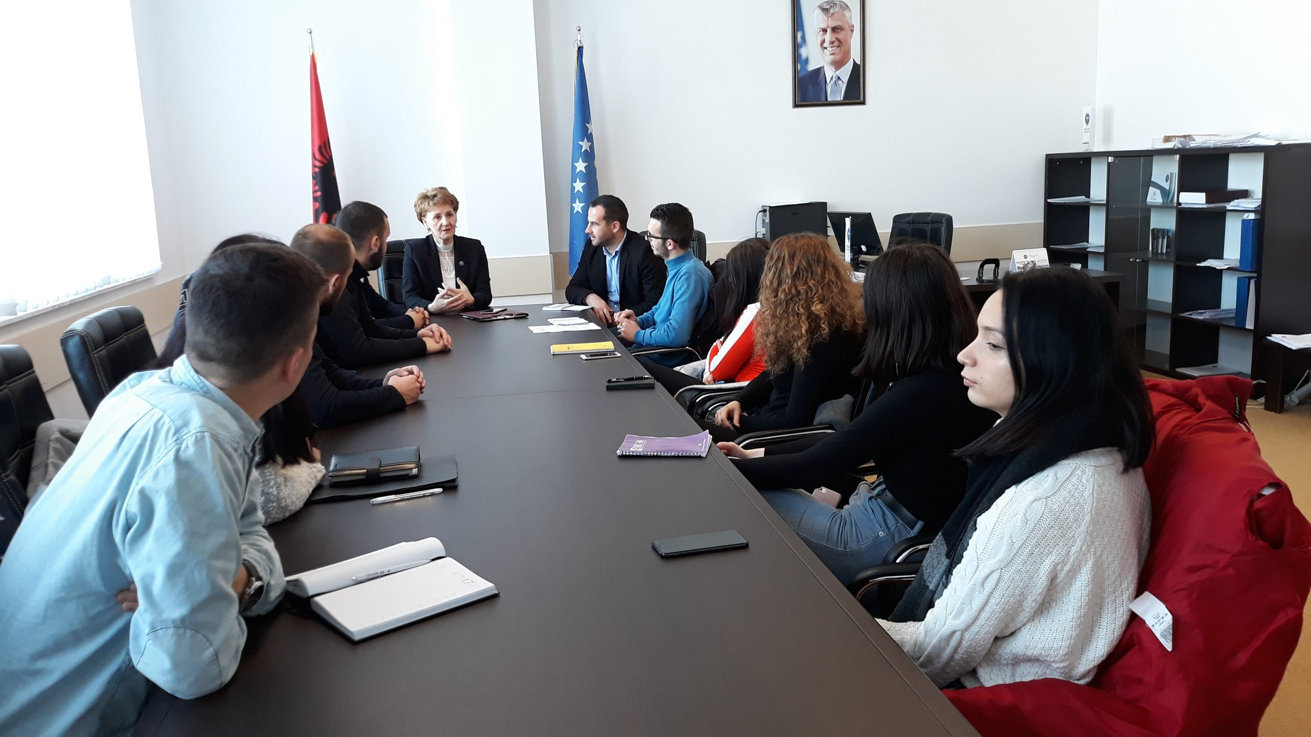 Vice-rector Shala Met With Student Representatives