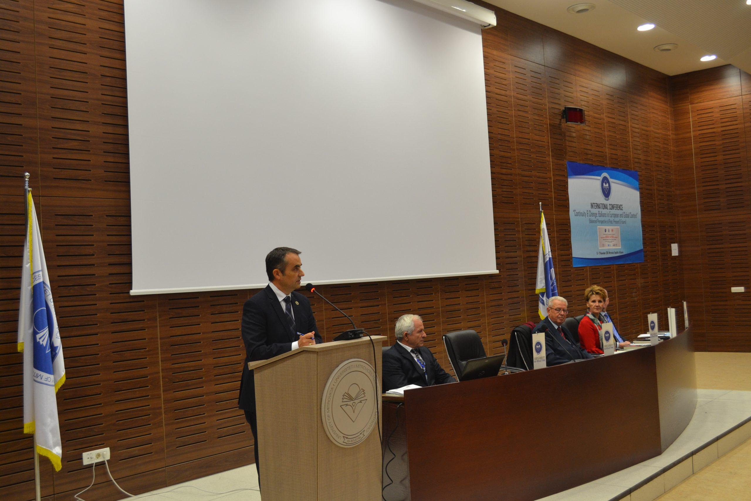 """Konferenca Ndërdisiplinore Ndërkombëtare """"Vazhdimësia historike dhe ndryshimi: Ballkani në kontekst evropian dhe global"""""""