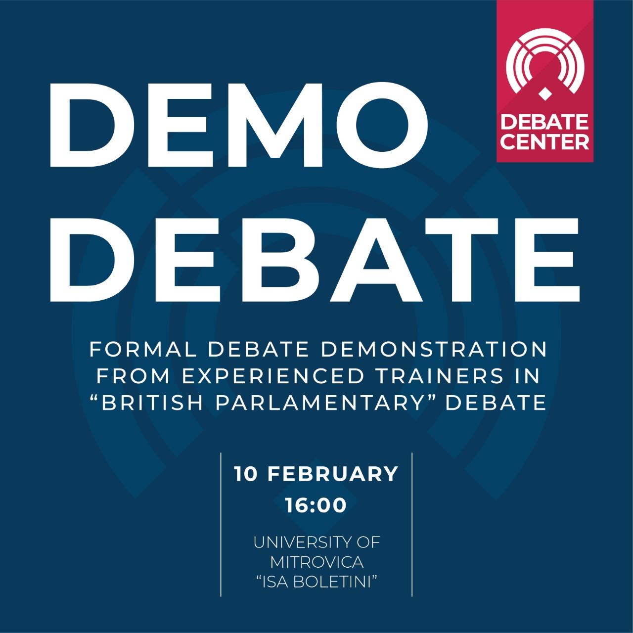 Debat demonstrativ në UMIB