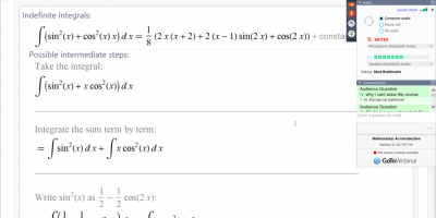 Online Training On Using Mathematica Software