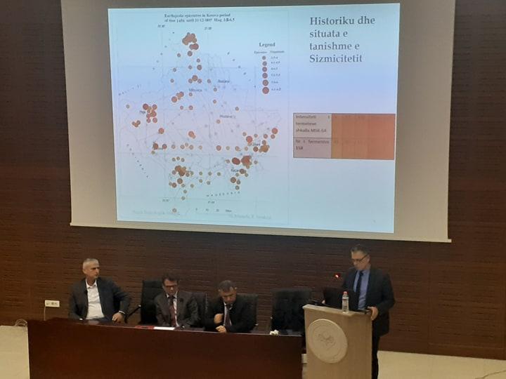 """U mbajt tryeza """"Tërmetet, zonat sizmike dhe aktiviteti sizmik në Kosovë"""""""