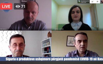 """U Mbajt Online Konferenca: """"Siguria E Produkteve Ushqimore Përgjatë Pandemisë COVID-19 Në Kosovë"""""""