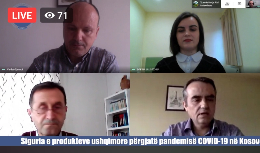 "Online conference: ""Food safety throughout the COVID-19 pandemic in Kosovo"""