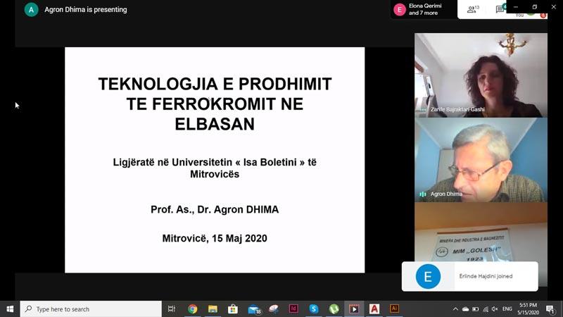 Falënderim për Prof. Asoc. Dr. Agron Dhima nga Universiteti Politeknik i Tiranës