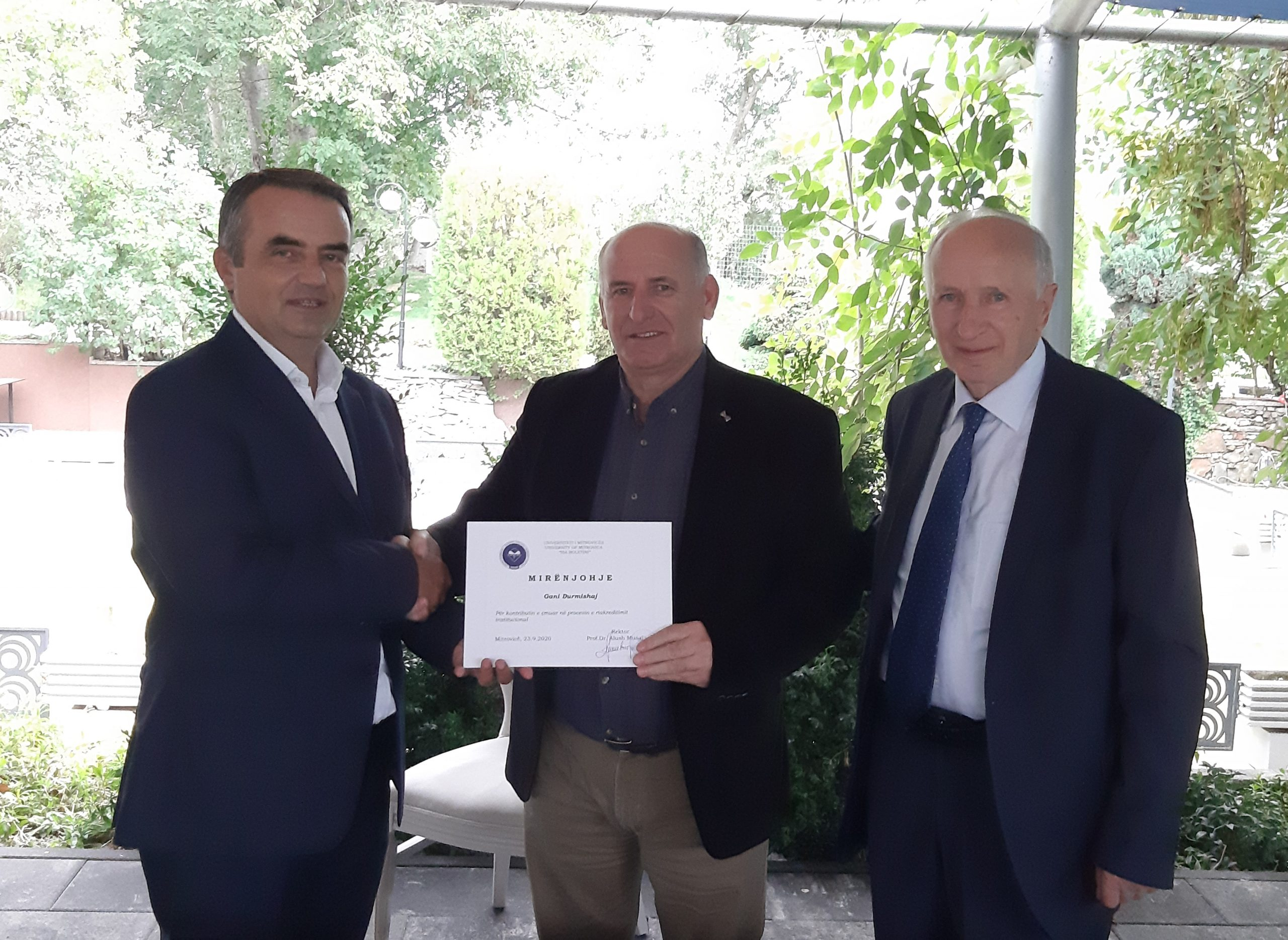 Acknowledgment for contribution to the UMIB re-accreditation process