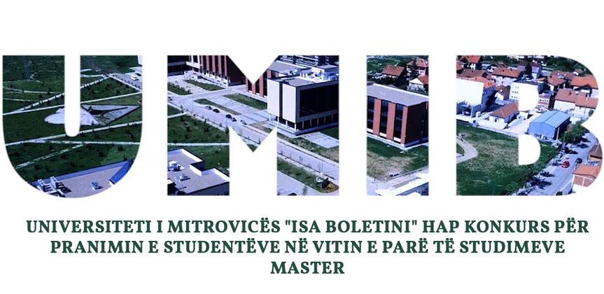 """Universiteti i Mitrovicës """"Isa Boletini"""" hap konkurs për pranimin e studentëve në vitin e parë të studimeve Master"""