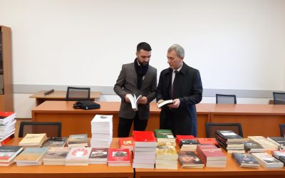 """The Institute Of History Has Donated 150 Books To The Library Of The University """"Isa Boletini"""" In Mitrovica (UIBM)"""