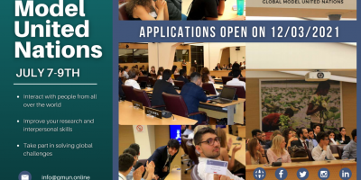 UIBM Students Are Invited To Participate In This Year's Edition Of The United Nations Global Model (GMUN), Which Will Be Held July 7-9, 2021 (online)