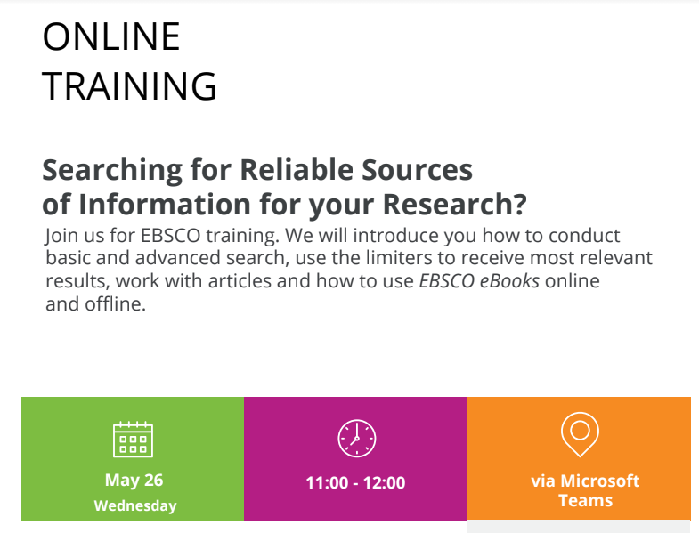 Trajnim online lidhur me shfrytëzimin sa më racional të burimeve në EBSCO