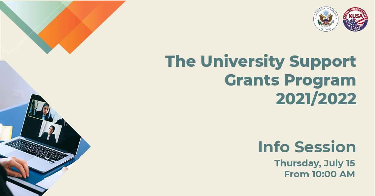 """""""The University Support Grants Program"""" është hapur për aplikime deri me 30 korrik 2021"""